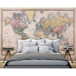 Mural World Map Vintage 2