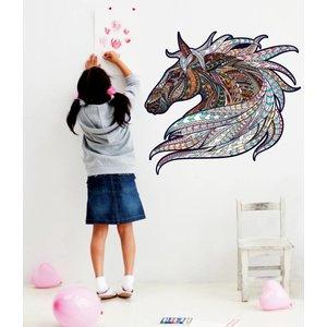 Wandaufkleber Pferde Vintage Design