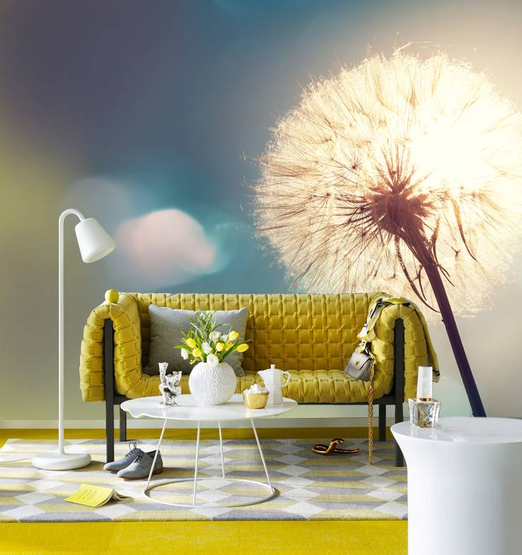 Mural dandelion copy walldesign56 wall decals murals for Dandelion wall mural