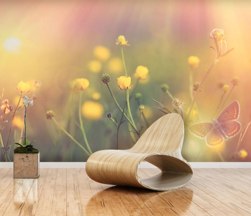 Mural cosmos flower 2 walldesign56 wall decals murals for Mural of flowers