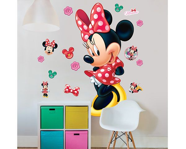 wandsticker disney minnie mouse walldesign56 wandtattoos fototapete poster. Black Bedroom Furniture Sets. Home Design Ideas