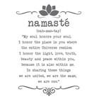 Muursticker Namaste op maat
