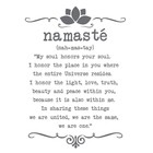 Wall Sticker Namaste custom