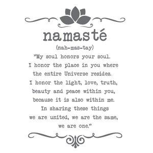 Muursticker Yoga Namaste Tekst
