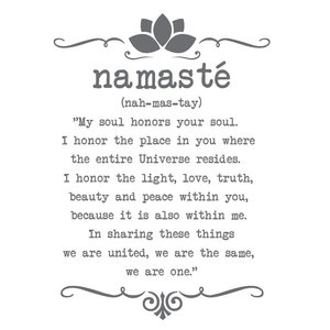 Wandaufkleber Namaste benutzerdefinierte