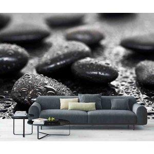 Mural schwarzen Steinen