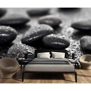 Fotobehang zwarte stenen