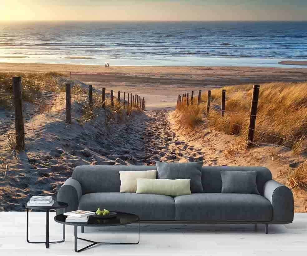 Fotobehang strand for Fotobehang goedkoop