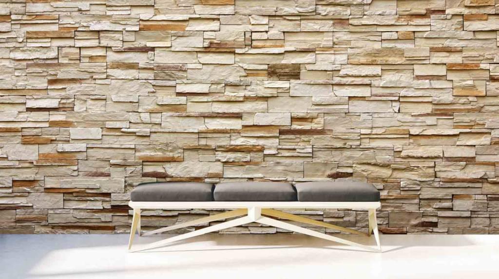 wandsteine riverside stein beige - walldesign56 - wandtattoos, Innenarchitektur ideen