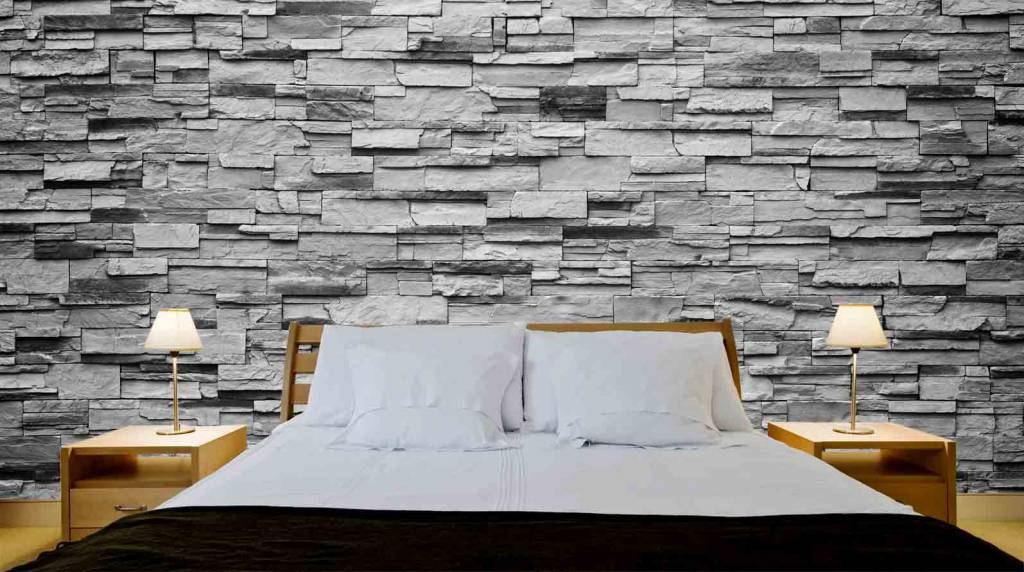 mural stones riverside stone grey walldesign56 wall. Black Bedroom Furniture Sets. Home Design Ideas