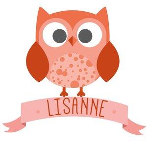 Birth Sticker Owl Girl