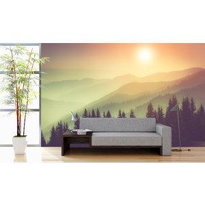 Mural Natur Nebelgebirge