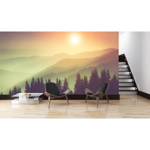 Mural Nature Misty Mountains