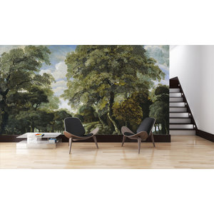 Mural forest view