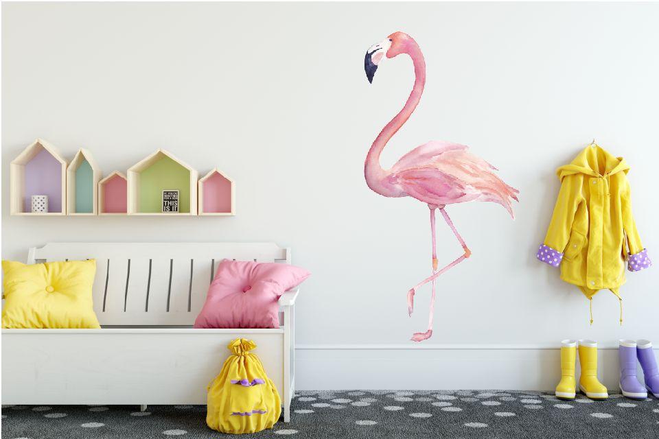 Muursticker Flamingo - Walldesign56.com
