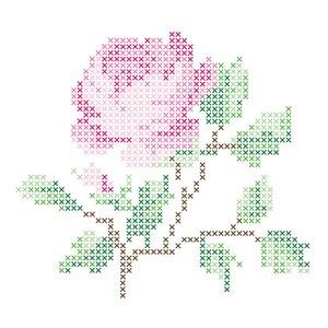 Wand-Aufkleber-Blumen-Stickerei