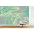Photo Wallpaper Duo Palm - Green