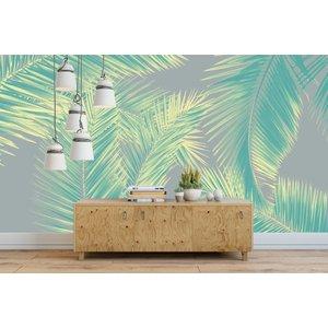 Mural Duo Palm - Grün