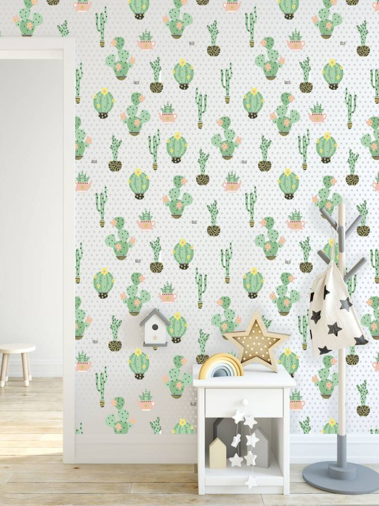 Wandtapeten  Wandtapete Cactus Dreams - Walldesign56 - Wandtattoos - Fototapete ...