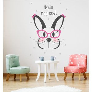 Wandaufkleber Rabbit - Hallo Schöne