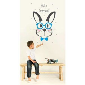 Wandaufkleber Rabbit - Hallo liebe