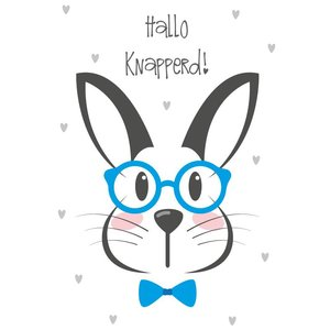 Wall sticker Rabbit - Hello Handsome