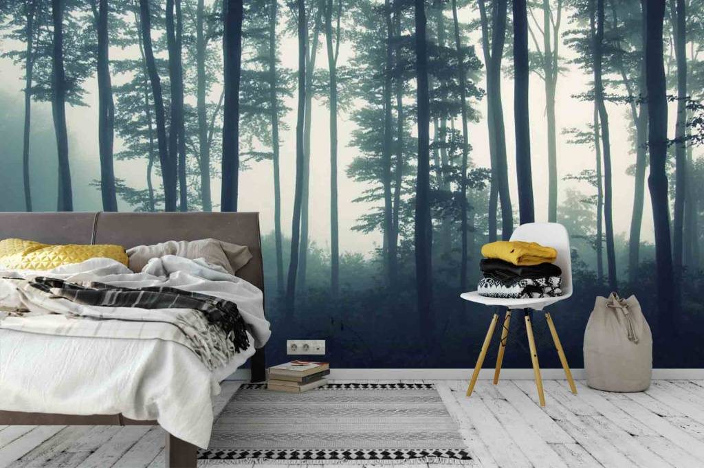 fototapete wald im nebel walldesign56 wandtattoos fototapete poster. Black Bedroom Furniture Sets. Home Design Ideas