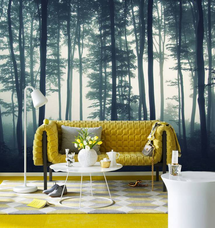 Mural Forest in the Mist Walldesign56 Wall Decals Murals Posters
