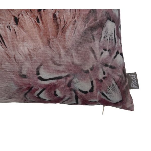 Sierkussenhoes Feather taupe 35x50
