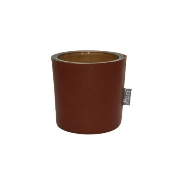 Raaf Waxine light holder cognac real leather