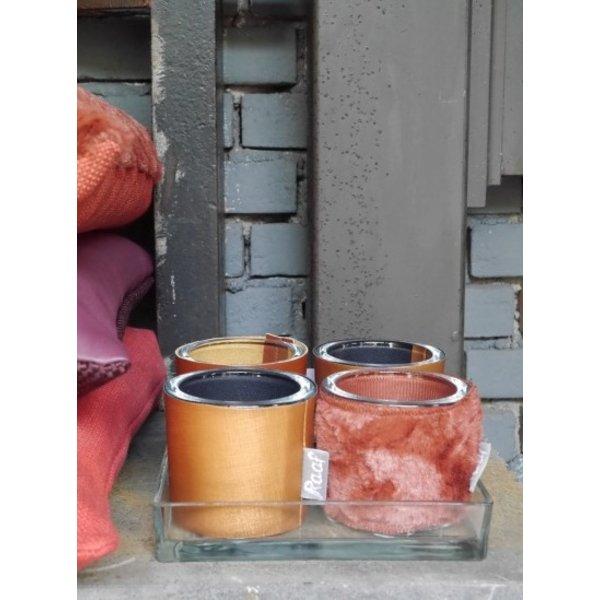 Pot / vaas / Waxinelichthouder Lens brique