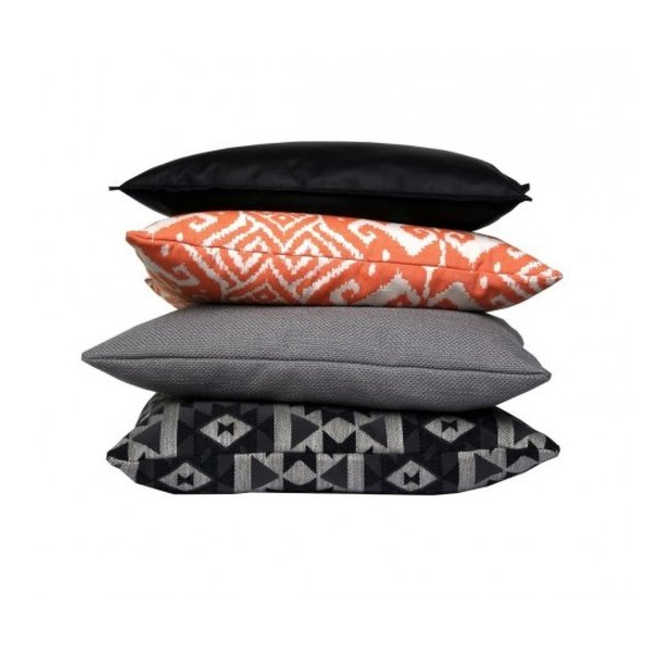 Cushion cover leather black