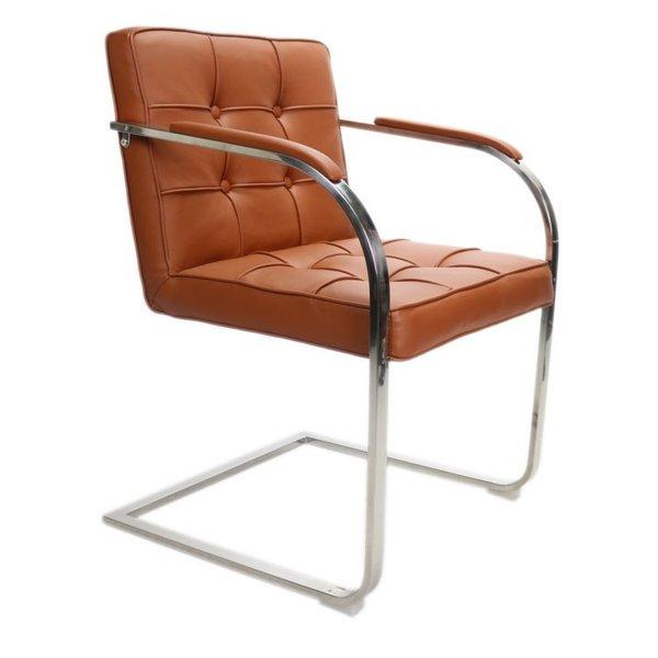 Design stoel Bauhaus 9 vaks cognac