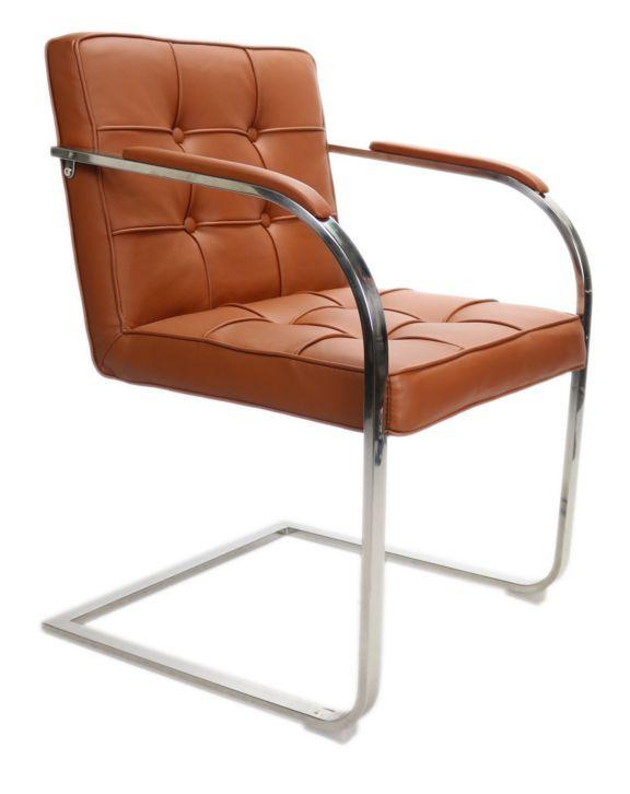Bauhaus 9vaks stoel cognac bauhaus stoelen online shop for Eettafel stoelen cognac