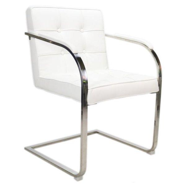 Design stoel Bauhaus 9 vaks Wit
