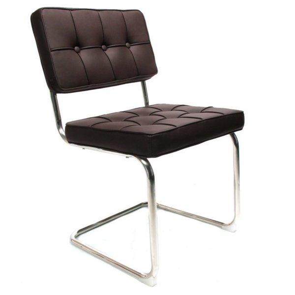 Design stoel Bauhaus donkerbruin