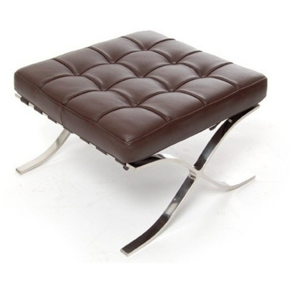 Design stool Barcelona darkbrown