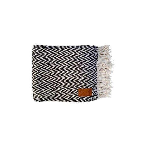 Raaf - Plaid visgraat zwart-wit 130X170