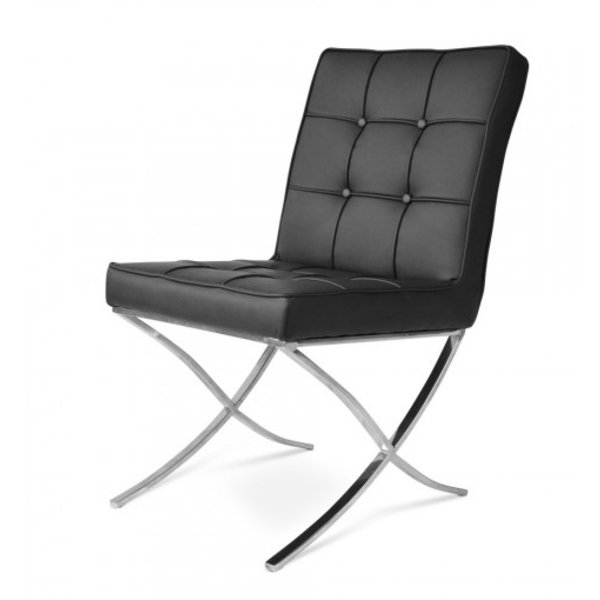 Barcelona dining chair black