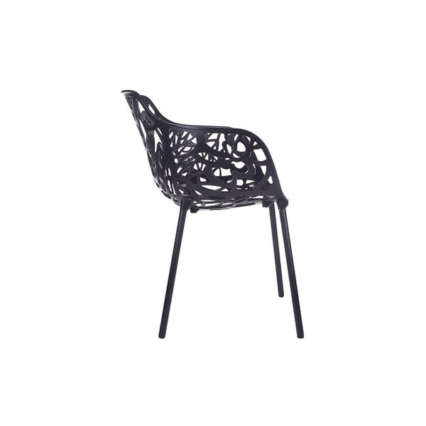 Cast Magnolia chair Black/white (with armrests)