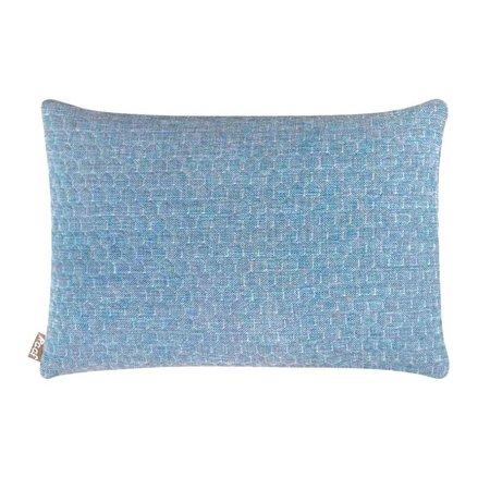 Raaf Sierkussenhoes Bijenkorf blauw 35x50