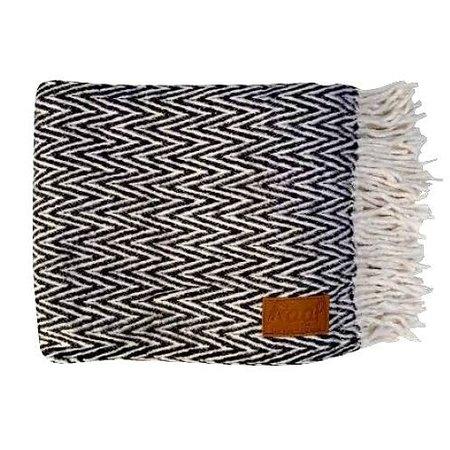 Raaf Plaid visgraat zwart-wit 130X170
