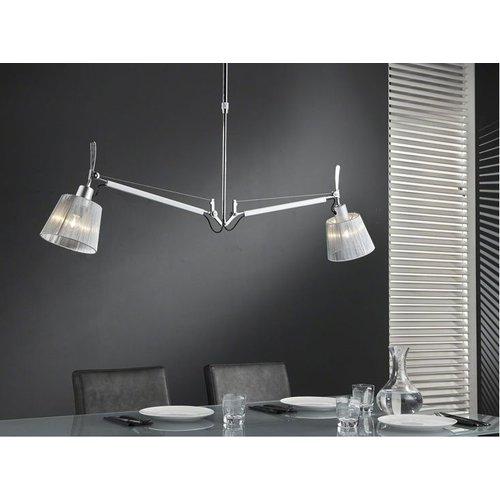 Het Landhuys Hanglamp 2L multiflex Chrome