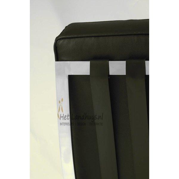 Barcelona stoel zwart replica PREMIUM | Incl. Gratis vloerbeschermers t.w.v. € 20,-