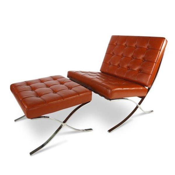 Barcelona chair replica cognac | Incl. Gratis vloerbeschermers t.w.v. € 20,-