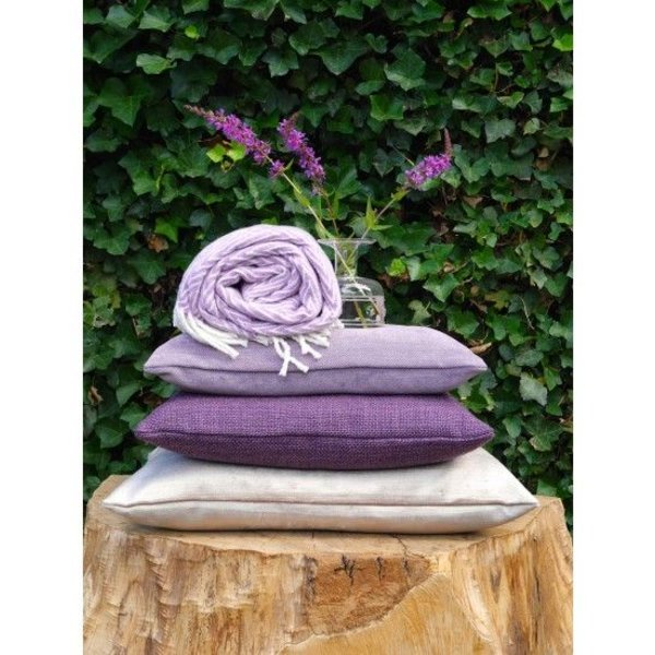 Cushion cover Sardinië lila 50x50 en 35x50