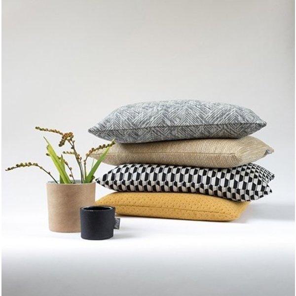 Raaf - Cushion cover Mirror mustard 50 x50 cm  - Copy - Copy