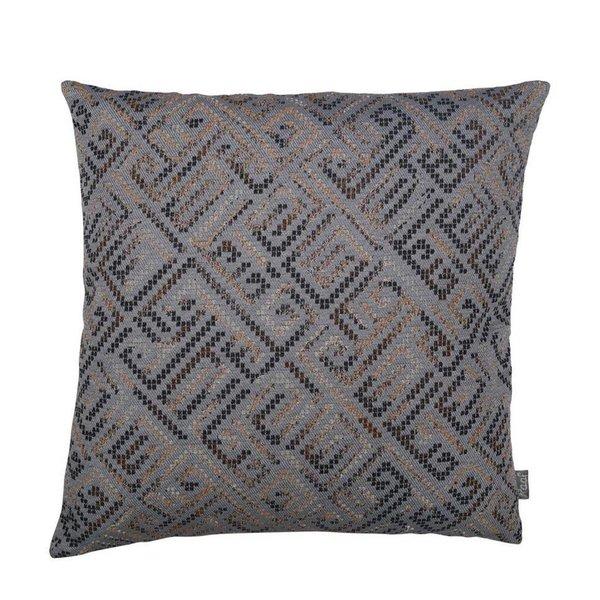 Cushion cover bo grey/blue