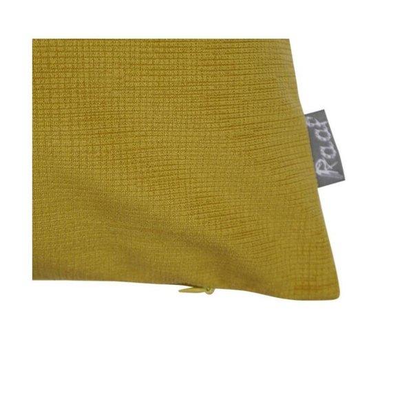 Raaf Sierkussenhoes Croc geel 40x60 cm