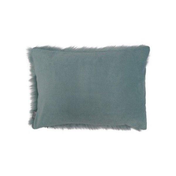 Sierkussenhoes Fur grijs-blauw